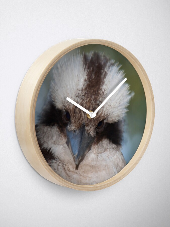 Alternate view of Who you look'in at? Clock