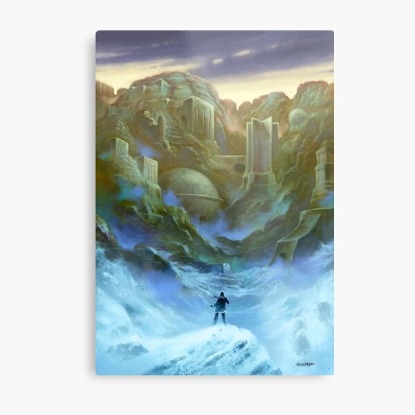 The Cold Waste Metal Print