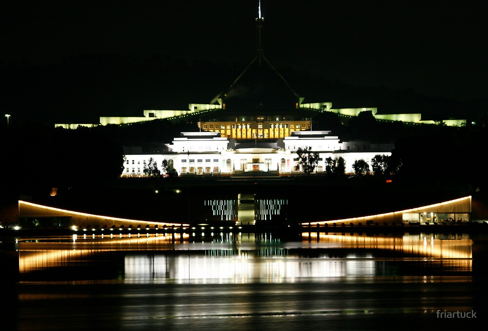 Parliament, night session by friartuck
