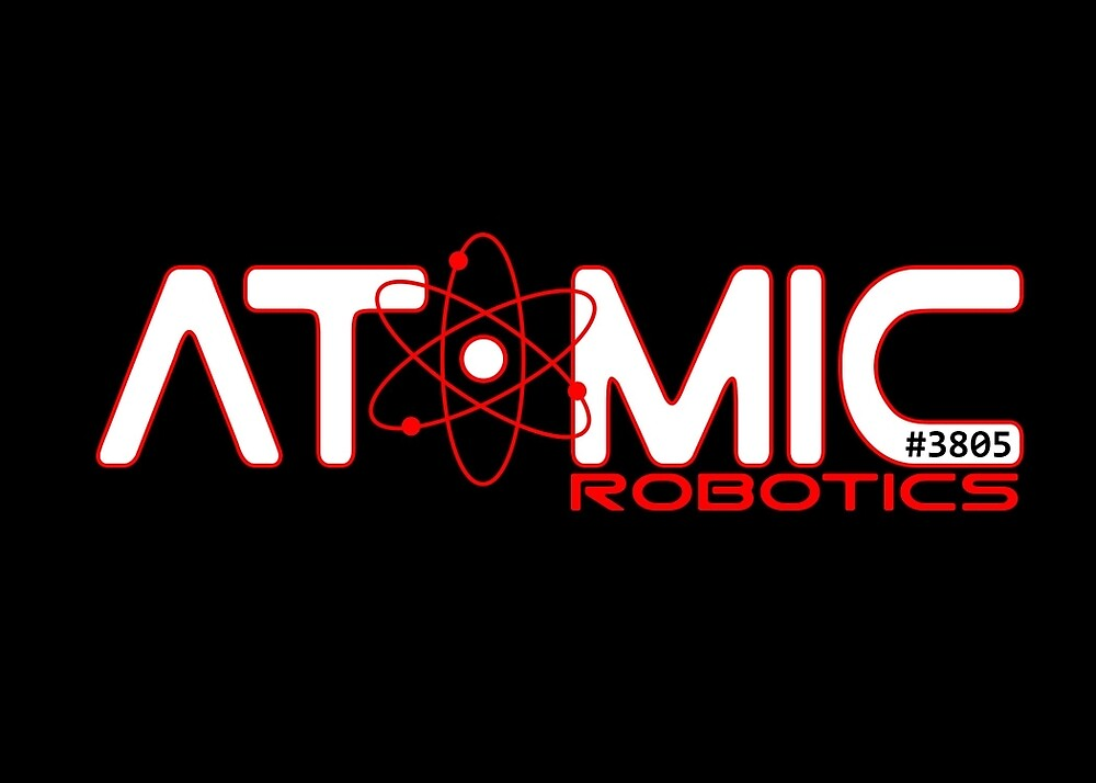 Atomic Robotics Logo White On Black By Atomicrobotics Redbubble