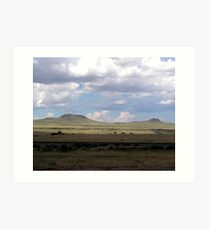 Clouds on the Plains Art Print