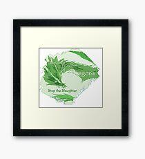 Green Dragon - Stop the Slaughter Framed Print