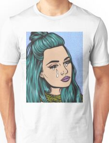 Teal Tears - Crying Comic Pop Art Girl Unisex T-Shirt