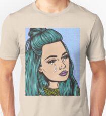Teal Tears - Crying Comic Pop Art Girl Unisex T-Shirt