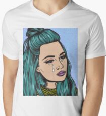 Teal Tears - Crying Comic Pop Art Girl T-Shirt