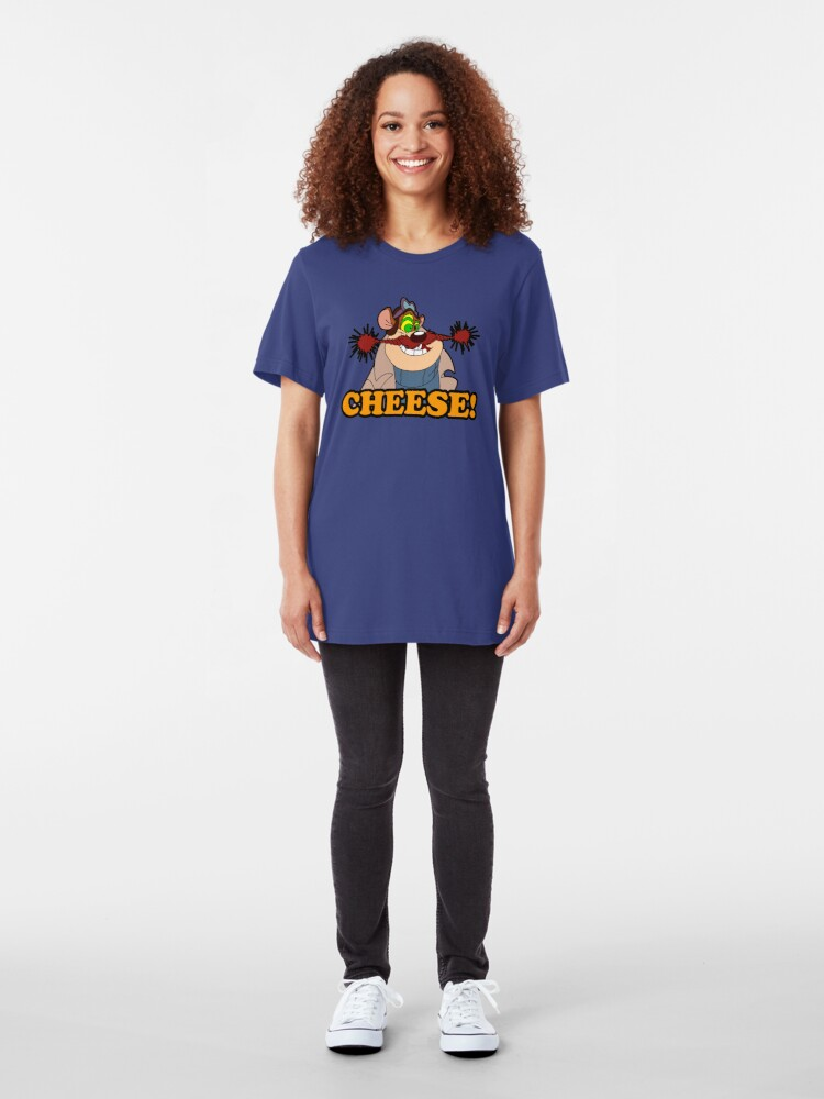 Alternate view of Monterey Jack Cheese Attack! Slim Fit T-Shirt