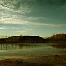 Reflections at the Missile Silos - Greenham Common by Samantha Higgs