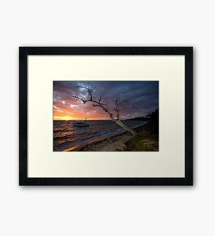 Sunset on the Isle Framed Print