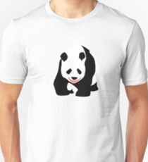 Happy Cartoon Panda Bear T-Shirt Unisex T-Shirt