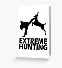 Extreme Hunting Funny Cute T Shirt For Hunt Hunter Season Camo Camouflage Greeting Card