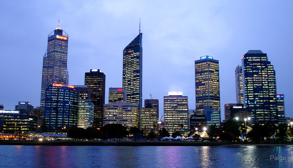 Perth by night by Paige