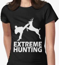 Extreme Hunting Deer Karate Funny Cute T Shirt For Hunt Hunter Season White T-Shirt