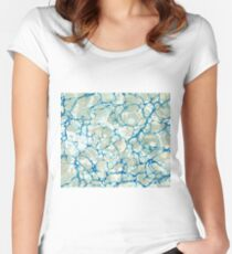 White Nile Marbled Paper Women's Fitted Scoop T-Shirt