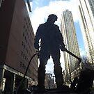 Welder Sculpture, Jersey City, New Jersey  by lenspiro