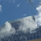 Clouds, Building, Reflection, Jersey City, New Jersey  by lenspiro