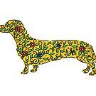 Art of Dachshund - Dachshund Lover Gold by dvampyrelestat
