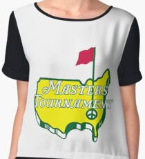 The Masters Golf Map Logo Chiffon Top