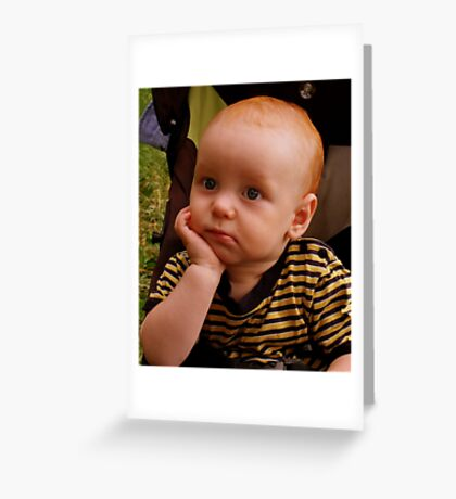 THE THINKER Greeting Card