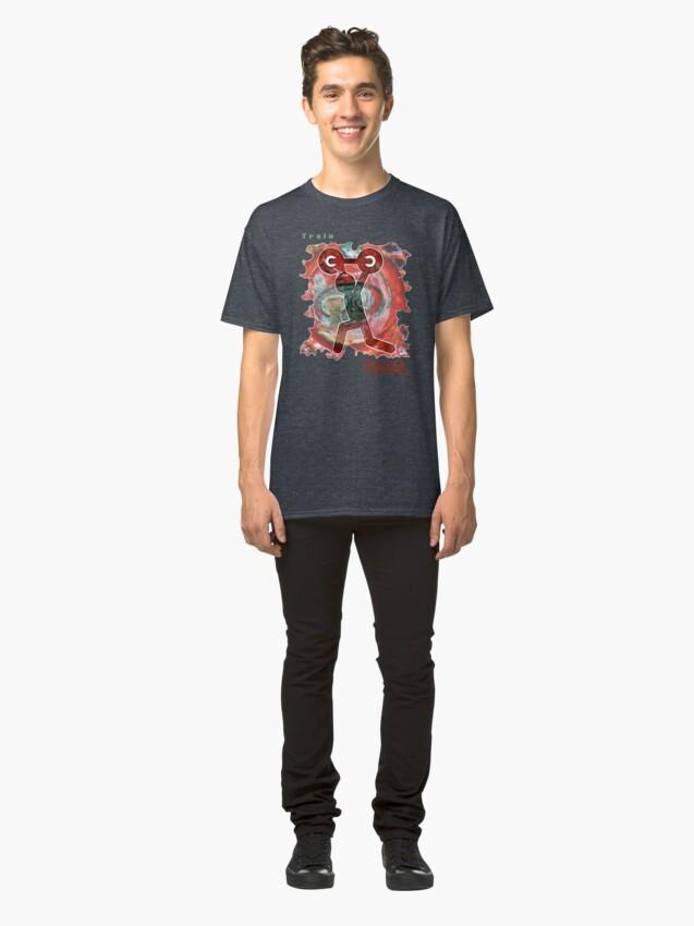 Alternate view of BODYBUILDING WORKOUT TRAIN INSANE Classic T-Shirt