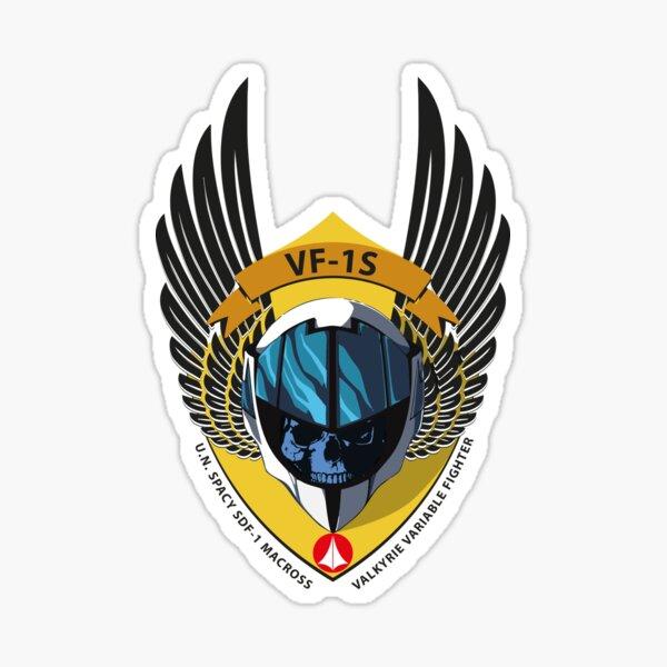 VF-1S VALKYRIE VARIABLE FIGHTER SHIELD Sticker