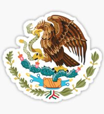 Mexico Coat of Arms - Mexican Flag Sticker