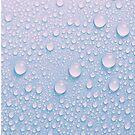 Abstrakte rosa und blaue Wasser-Tröpfchen von agShop