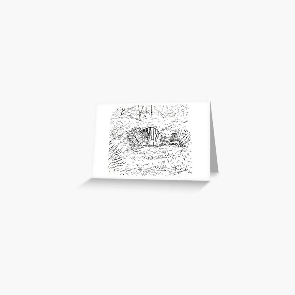 Quarry Landscape Greeting Card