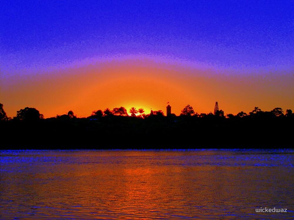 Warm Bli Bli Sunset by wickedwaz