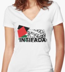 intifada Women's Fitted V-Neck T-Shirt