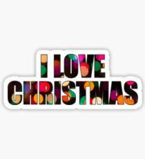 I Love Christmas Sticker