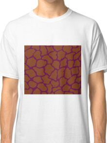 Imperial Purple or Tyrian Purple in Giraffe Pattern  Classic T-Shirt