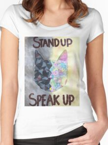 Animal Abuse Poster Women's Fitted Scoop T-Shirt