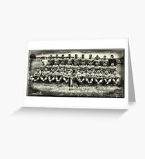 The Football Team  Greeting Card