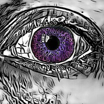 """""""Mysterious Mermaid Stare."""" (Deep Purple) by PandemoniumPrya"""