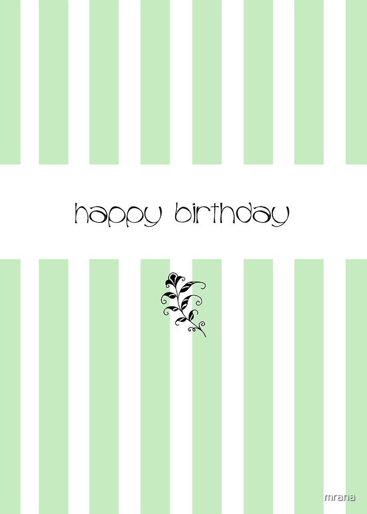 Mint Candy Stripes Birthday by Mariana Musa