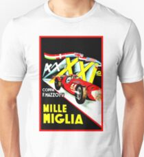 MILLE MIGLIA; Vintage Auto Racing Advertising Print Unisex T-Shirt