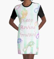 Keep Moving Forward Graphic T-Shirt Dress