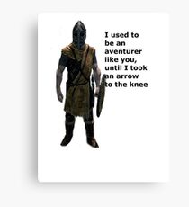 Whiterun Guard Quote Canvas Print