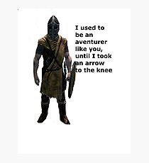 Whiterun Guard Quote Photographic Print