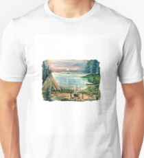 INDIAN CAMP AT SUNSET Unisex T-Shirt
