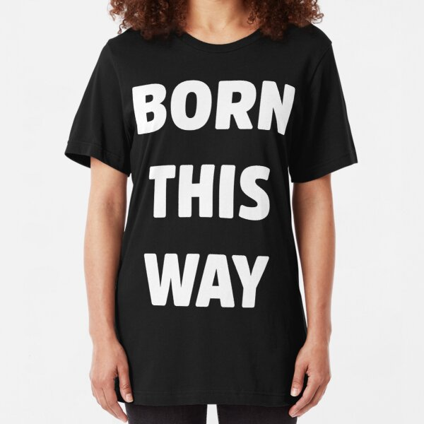 Lady Gaga Hombre Born This Way Text Tank Top