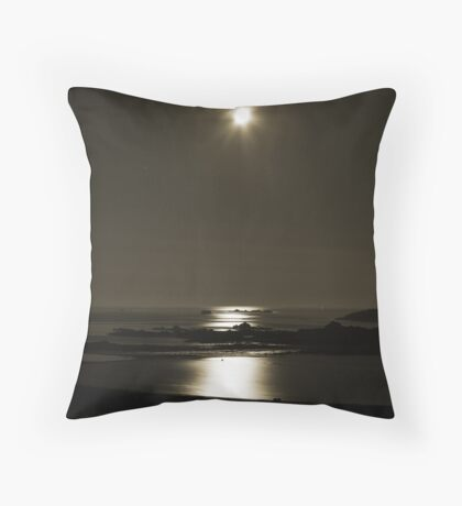 Moonlit Lido Throw Pillow