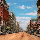 City - Memphis TN - Main Street Mall 1909 by Mike  Savad