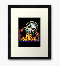 VAMPIRE MASK- super bright Framed Print