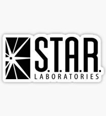S.T.A.R. Labs Black Logo Sticker