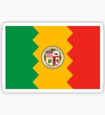 Los Angeles City Flag of California - LA Sticker T-Shirt Duvet Sticker