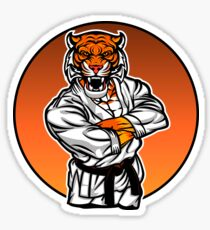 MMA fighter tiger.angry tiger. Sticker