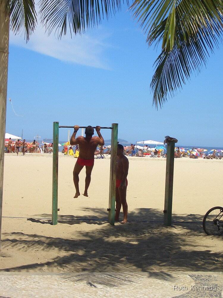 Muscle Men in Rio by Ruth  Kennedy
