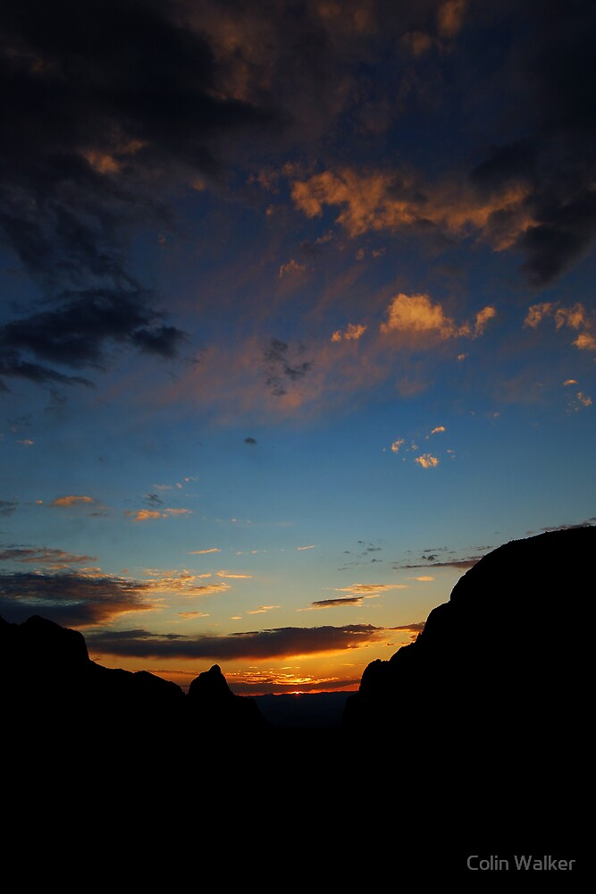 Chisos Basin Sunset by Colin Walker
