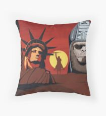 Planet of the Apes montage Throw Pillow